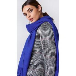 Szaliki damskie: NA-KD Accessories Tkany szalik – Blue