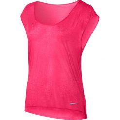 Bluzki asymetryczne: koszulka do biegania damska NIKE BREATHE TOP SHORT SLEEVE COOL / 831784-617 - NIKE BREATHE TOP SHORT SLEEVE COOL
