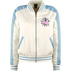 Bomberki damskie: Alicja w Krainie Czarów Embroidered Bomber Jacket Kurtka damska złamana biel/jasnoniebieski