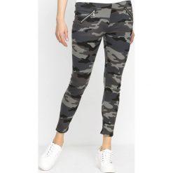 Spodnie damskie: Szare-Moro Legginsy Defector