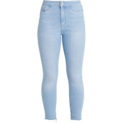 New Look Petite PETITE HOLIDAY BRIGHT RIP HEM DISCO Jeans Skinny Fit light blue. Niebieskie boyfriendy damskie New Look Petite, petite. Za 139,00 zł.