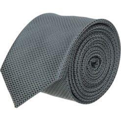 Krawaty męskie: krawat platinum szary classic 202