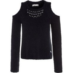 Swetry dziewczęce: Abercrombie & Fitch SHINE COLD SHOULDER  Sweter solid navy