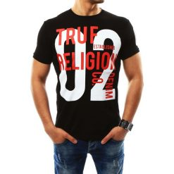 T-shirty męskie z nadrukiem: T-shirt męski z nadrukiem czarny (rx2265)