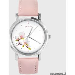 Zegarki damskie: Zegarek - Magnolia - skóra, pudrowy róż