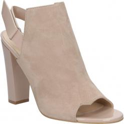 Sandały skórzane na słupku Sala 3030. Różowe sandały damskie Sala, na słupku. Za 179,99 zł.