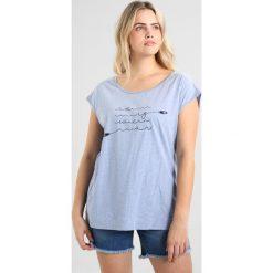 T-shirty damskie: Ragwear Plus COPACABANA Tshirt z nadrukiem light blue mel