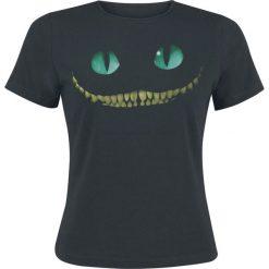 Alicja w Krainie Czarów Grinsekatze - Smile Koszulka damska czarny. Czarne bluzki z odkrytymi ramionami Alicja w Krainie Czarów, xl. Za 74,90 zł.