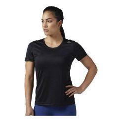 Reebok Koszulka damska Running Essentials czarna r. L (BQ5480). Szare topy sportowe damskie marki Reebok, l, z dzianiny, casualowe, z okrągłym kołnierzem. Za 79,64 zł.