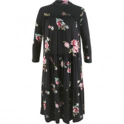 Sukienka w kwiaty, z kolekcji Maite Kelly bonprix czarny w kwiaty. Niebieskie sukienki z falbanami marki bonprix, z nadrukiem. Za 89,99 zł.