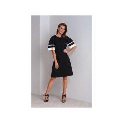 Elegancka czarna sukienka wizytowa z bufiastymi rękawami MAYA. Czarne sukienki balowe marki Mohito, l, z dekoltem na plecach. Za 340,00 zł.