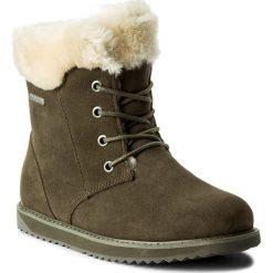 Śniegowce EMU AUSTRALIA - Shoreline Lo W11750 Military Green. Zielone buty zimowe damskie EMU Australia, ze skóry. W wyprzedaży za 429,00 zł.