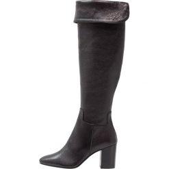 Franco Russo Napoli Muszkieterki lumiere nero. Czarne buty zimowe damskie Franco Russo Napoli, z materiału. W wyprzedaży za 514,50 zł.