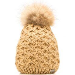 85-HF-006-5 Czapka damska. Brązowe czapki damskie Wittchen, na zimę, z dzianiny. Za 69,00 zł.