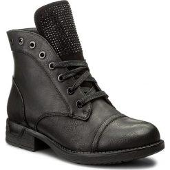 Botki JENNY FAIRY - WS16132-29 Czarny. Czarne buty zimowe damskie marki Jenny Fairy, z materiału, na obcasie. Za 129,99 zł.
