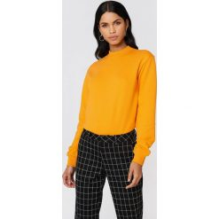 Bluzy damskie: NA-KD Basic Bluza basic – Orange