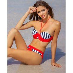 Bikini: Bikini w kolorze biało-czerwono-granatowym