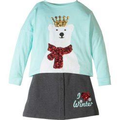Odzież dziecięca: Shirt + spódniczka (2 części) bonprix pastelowy miętowy – antracytowy melanż