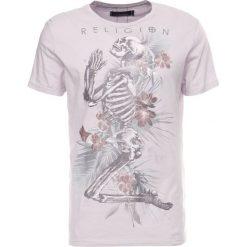 T-shirty męskie z nadrukiem: Religion TROPIC SKELETON TEE Tshirt z nadrukiem lilac savage