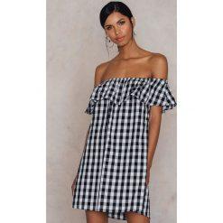Sukienki hiszpanki: Glamorous Sukienka Bardot Swing – Black,White,Multicolor