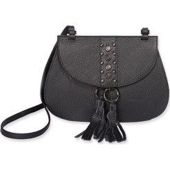 """Torebki klasyczne damskie: Skórzana torebka """"Beryl"""" w kolorze czarnym – 20 x 22 x 8 cm"""