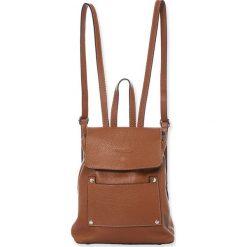 """Plecaki damskie: Skórzany plecak """"Bridget"""" w kolorze brązowym – 25 x 29 x 15 cm"""