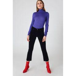 Boyfriendy damskie: IVY Jeansy z rozszerzanymi nogawkami Johanna - Black
