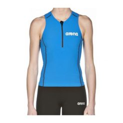 Topy damskie: Arena Koszulka triathlonowa damska Triathlon Top ST niebieska r. S (1A916/88)