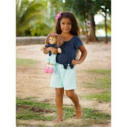 Kombinezony dziewczęce: Kombinezon w kolorze granatowo-turkusowym dla dziecka i lalki