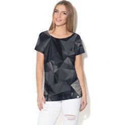 Colour Pleasure Koszulka damska CP-034  248 szaro-czarna r. XXXL-XXXXL. Różowe bluzki damskie marki Colour pleasure. Za 70,35 zł.