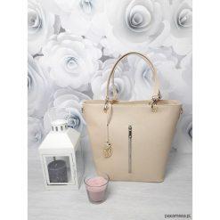 Kuferki damskie: Duża torebka kuferek MANZANA hot beżowy