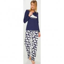 Answear - Piżama. Szare piżamy damskie ANSWEAR, l, z nadrukiem, z bawełny, z długim rękawem. Za 129,90 zł.