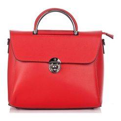 Torebki klasyczne damskie: Skórzana torebka w kolorze czerwonym – (S)28 x (W)29 x (G)11 cm