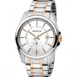 Zegarek kwarcowy w kolorze srebrno-biało-różowozłotym. Szare, analogowe zegarki męskie Esprit Watches, ze stali. W wyprzedaży za 272,95 zł.