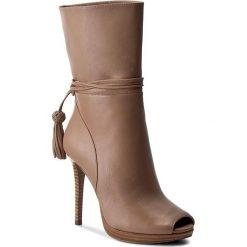 Botki MICHAEL KORS - Rosalie Open Toe Bootie 40T7ROHE5L Dk Khaki. Brązowe buty zimowe damskie Michael Kors, z materiału, z otwartym noskiem. W wyprzedaży za 659,00 zł.