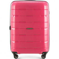Walizka średnia 56-3T-722-30. Czerwone walizki marki Wittchen, z gumy, średnie. Za 229,00 zł.