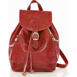 CELESTA Włoski plecak skórzany czerwony. Czerwone plecaki damskie MAZZINI, ze skóry, klasyczne. Za 339,00 zł.