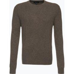 Swetry klasyczne męskie: Andrew James – Sweter męski z czystego kaszmiru, beżowy