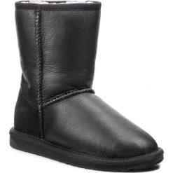 Buty EMU AUSTRALIA - Townsend W10715 Black. Czarne buty zimowe damskie EMU Australia, ze skóry, na niskim obcasie. Za 769,00 zł.