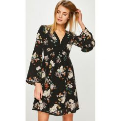 Answear - Sukienka. Brązowe sukienki mini ANSWEAR, na co dzień, l, z poliesteru, casualowe, proste. Za 119,90 zł.