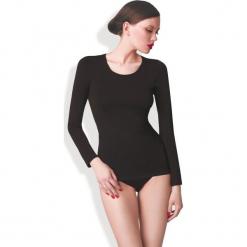 Gatta - Bluzka. Czarne bluzki asymetryczne Gatta, l, z elastanu, casualowe, z długim rękawem. W wyprzedaży za 49,90 zł.