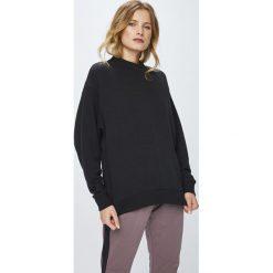 Reebok - Bluza. Czarne bluzy damskie marki Reebok, l, z bawełny, bez kaptura. Za 199,90 zł.