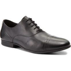 Półbuty GEOX - U Wilburg D U822SD 00043 C9999 Black. Czarne buty wizytowe męskie Geox, z materiału. W wyprzedaży za 369,00 zł.