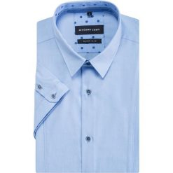 Koszula MICHELE KKNE000016. Brązowe koszule męskie na spinki marki QUECHUA, m, z elastanu, z krótkim rękawem. Za 199,00 zł.