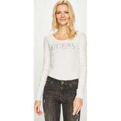 Guess Jeans - Sweter Emily. Szare swetry klasyczne damskie Guess Jeans, m, z dzianiny, z okrągłym kołnierzem. Za 319,90 zł.