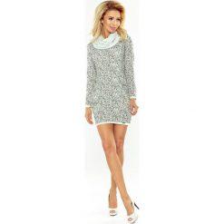 Florida Golf - sukienka z dużymi kieszeniami - wzór DROBNY SWETEREK. Szare sukienki na komunię marki numoco, s, z golfem. Za 158,67 zł.