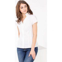 Bluzki asymetryczne: Bluzka koszulowa z krótkim rękawem