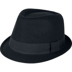 Brim Hat Kapelusz czarny. Czarne kapelusze damskie Brim Hat, w paski, z poliesteru, eleganckie. Za 54,90 zł.