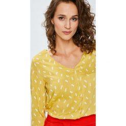 Answear - Bluzka. Brązowe bluzki nietoperze ANSWEAR, l, z tkaniny, casualowe. W wyprzedaży za 79,90 zł.