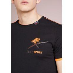 Plein Sport ROUND NECK AGILE Tshirt z nadrukiem black/orange. Czarne koszulki polo marki Plein Sport, m, z nadrukiem, z bawełny. W wyprzedaży za 356,95 zł.